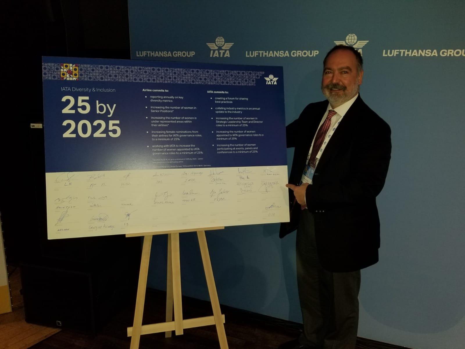 Pegasus, IATA'nın '25by2025' girişimini imzaladı