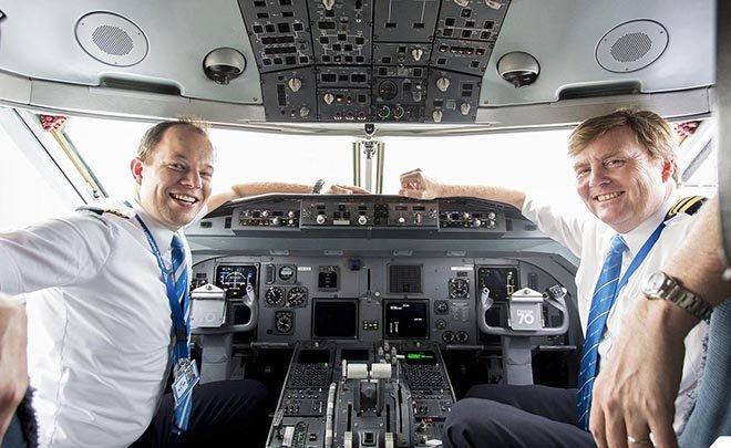 Pilot Hollanda Kralı İstanbul uçağını uçurdu!