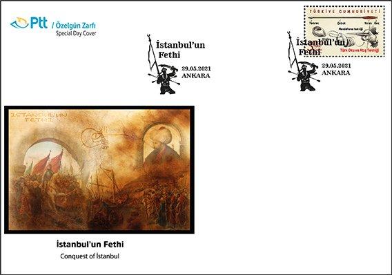 PTT'den İstanbul'un Fethi için özelgün zarfı
