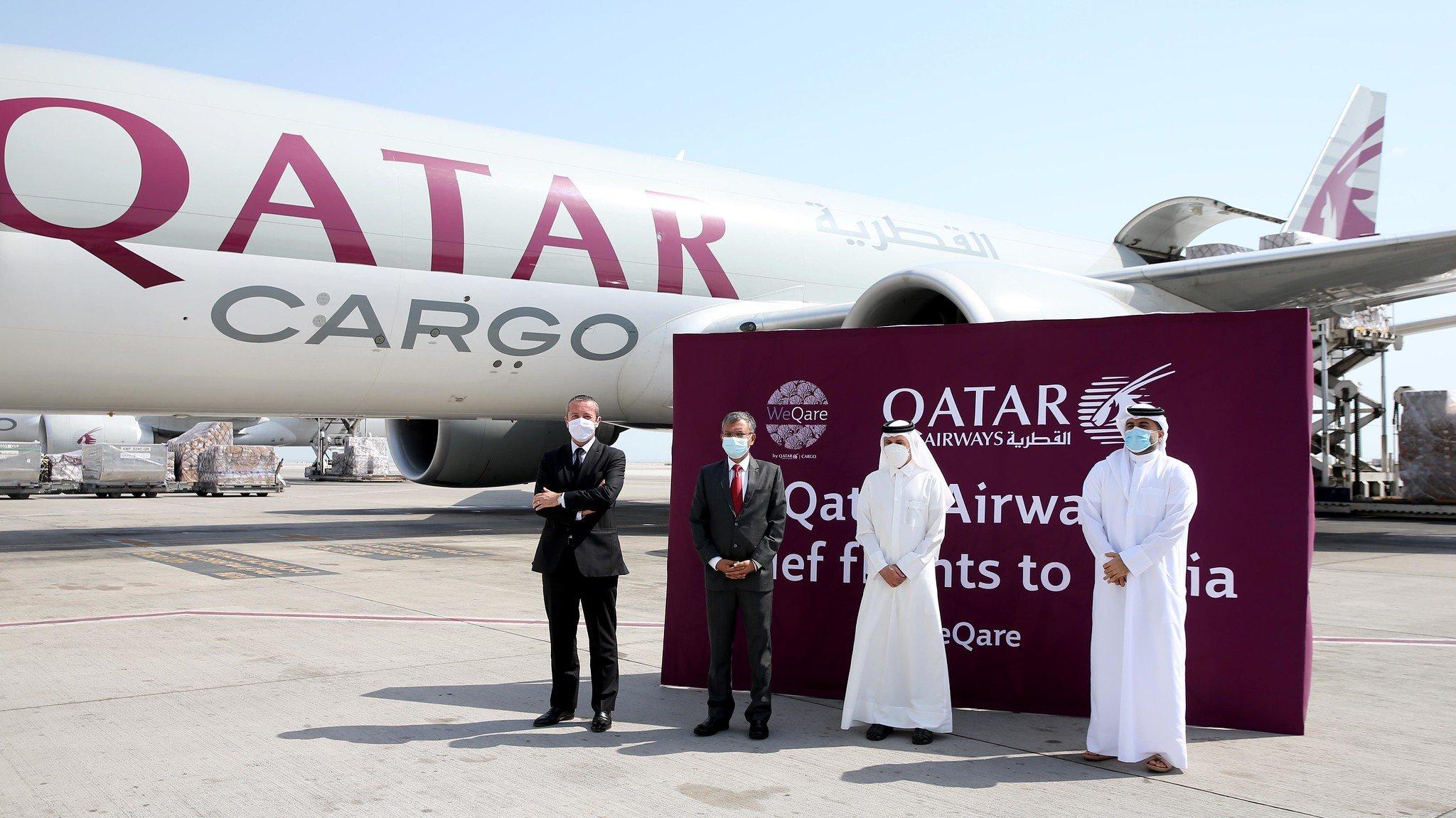 Qatar Airways Cargo Hindistan'a Tıbbi Yardım Paketi Taşıyor