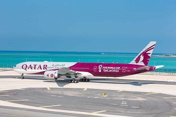 """Qatar Airways,""""FIFA Dünya Kupası 2022TM"""" Temalı Uçağı"""