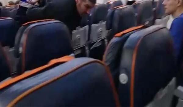Rusya'da uçakta alkollü yolcuya gözaltı
