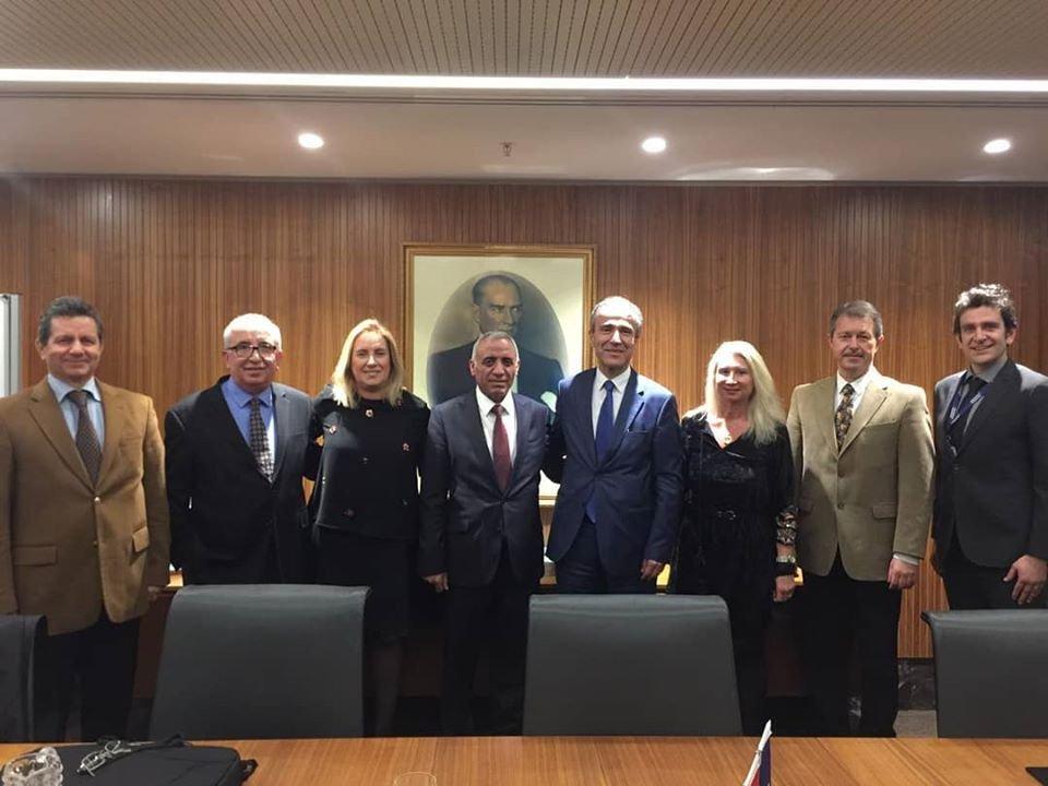 Sab Derneği yönetim kurulu Anadolu sigorta ziyareti