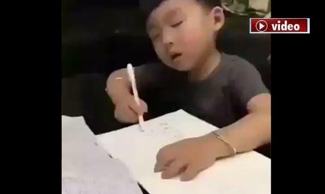 Sabah erken saate sınav koymuşlar!video