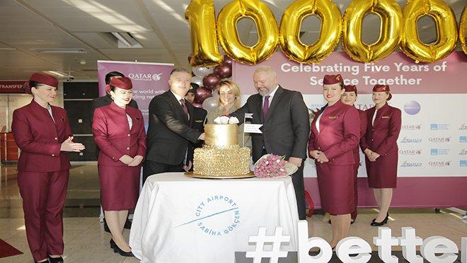 Sabiha Gökçen'de 1 milyon töreni!