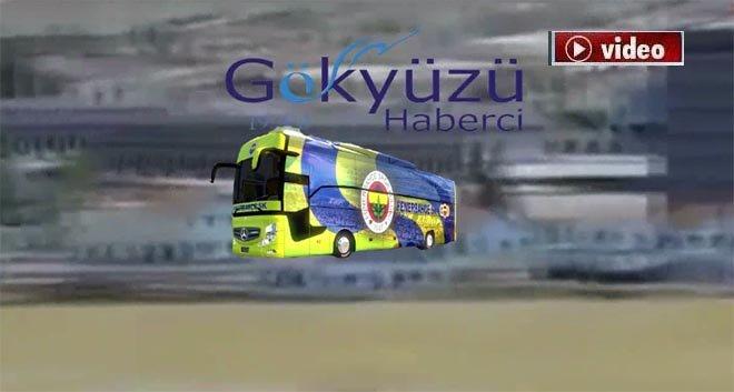 FB Otobüsü Sabiha Gökçen'e iniş yaptı!video