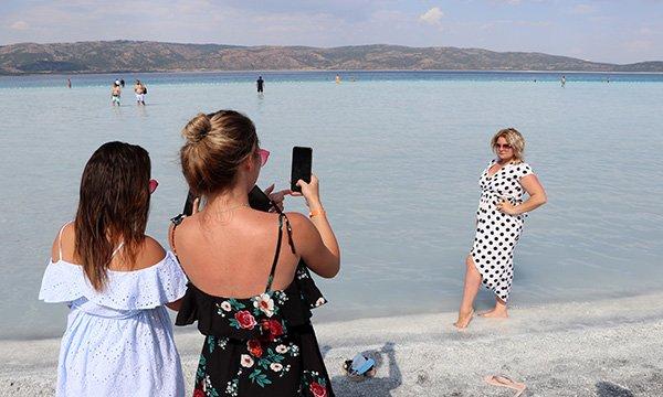 Salda Gölü'ne 600 bin ziyaretçi