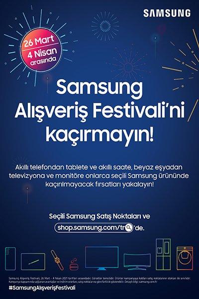 Samsung Alışveriş Festivali fırsatları son günler!