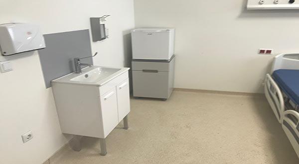 Sancaktepe'deki hastanenin Yatakları yerleştirildi