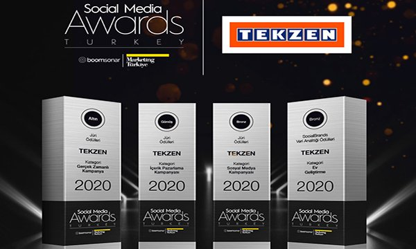 Social Media Awards'tan Tekzen'e dört ödül