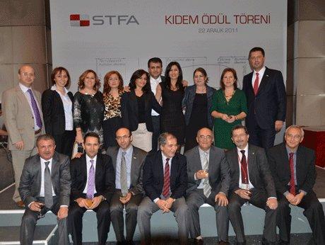 STFA İnşaat Grubu çalışanları ödül töreni