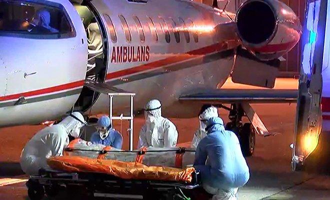 Sudan'dan ambulans uçakla Türkiye'ye getirildi.