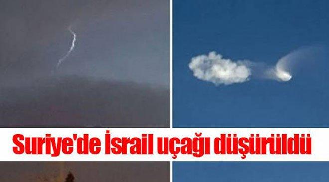 Suriye'de İsrail Uçağı Düşürüldü