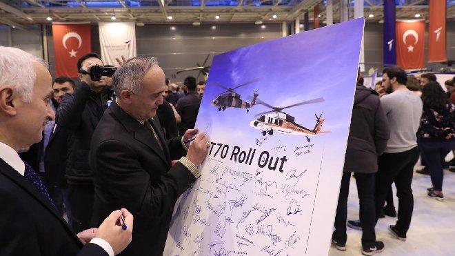 T-70 helikopterimiz hangardan çıktı