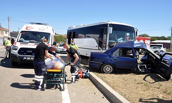 Tekirdağ'da düğüne giden yaşlı çift kazada öldü