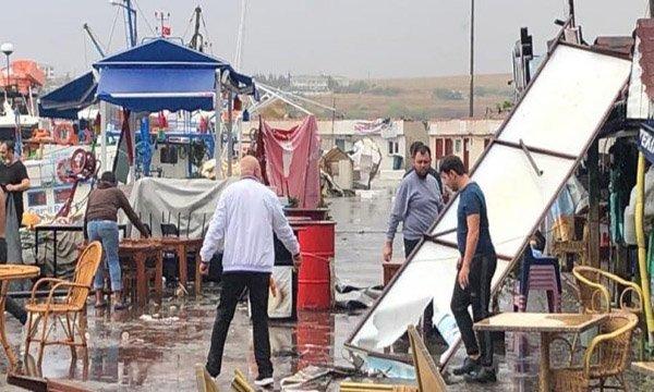 Tekirdağ Marmaraereğilisi'ni hortum vurdu(video)