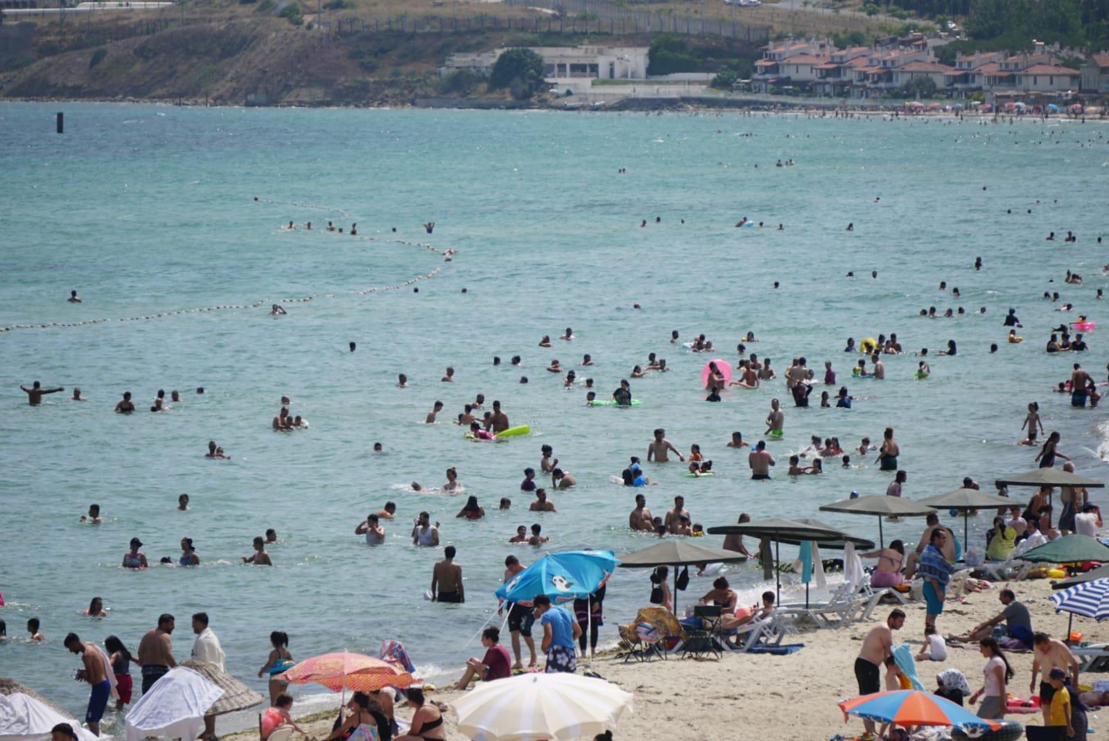 Tekirdağ sahillerine tatilci akını(video)