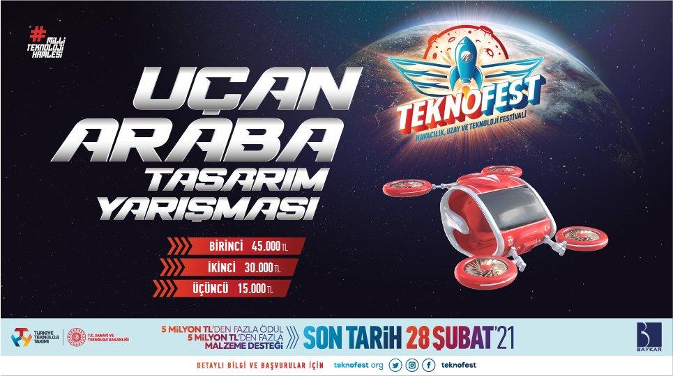 TEKNOFEST'te Uçan Araba Yarışmaya!(video)