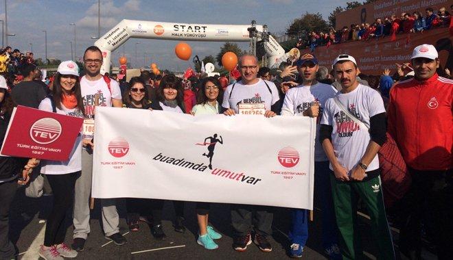 """TEV'in """"Umut Takımı"""" Avrasya Maratonu'nda Koştu"""