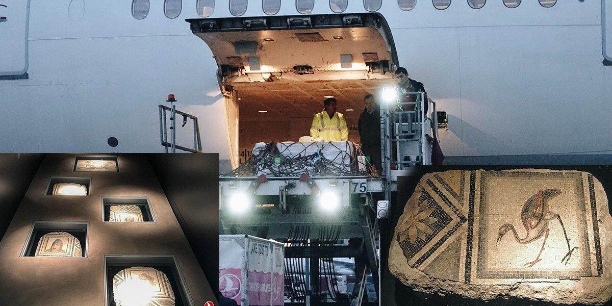 THY Çingene Kız Mozaiği'nin parçalarını taşıdı!
