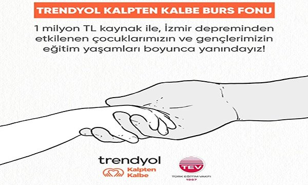 Trendyol'ndan İzmir'deki depremzede öğrencilere