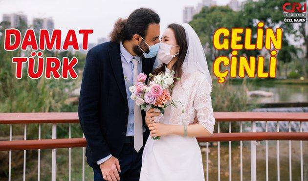 Türk damat ile Çinli gelin karantinadan sonra evlendi