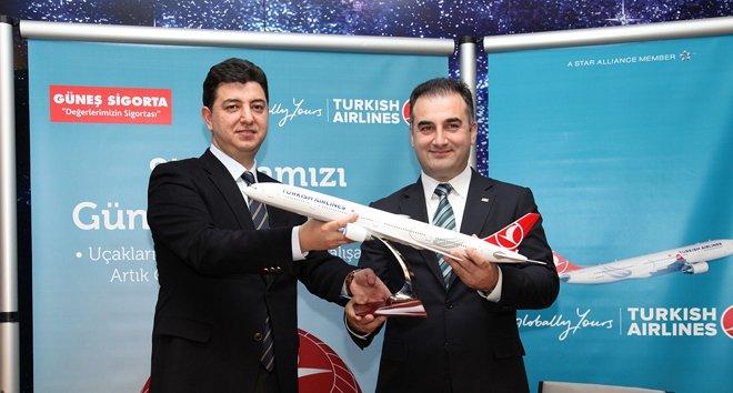 Türk Hava Yolları'na 4 Yıllık Güneş Sigorta güvencesi