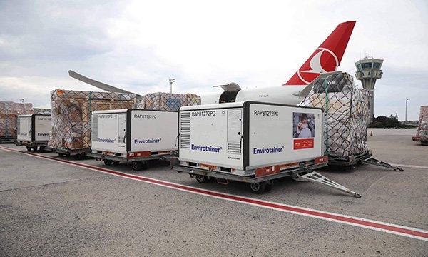 THY Cargo, Çin'de üretilen Kovid-19 aşılarını taşıyor(video)