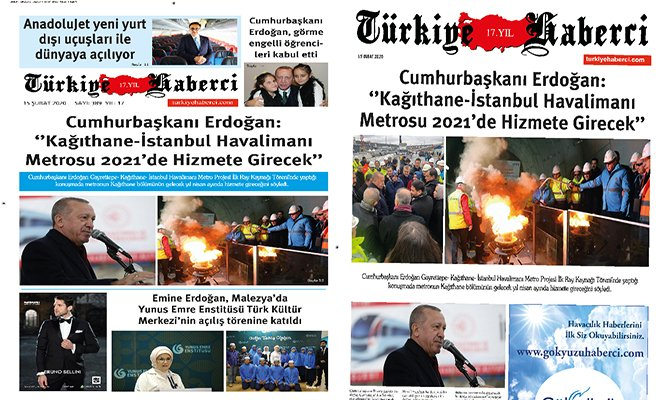 TürkiyeHaberci Gazetesi Şubat Sayısı çıktı!