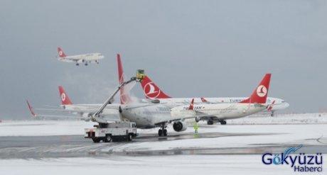 Uçaklar İstanbul üzerinde tur atmak zorunda kaldı.