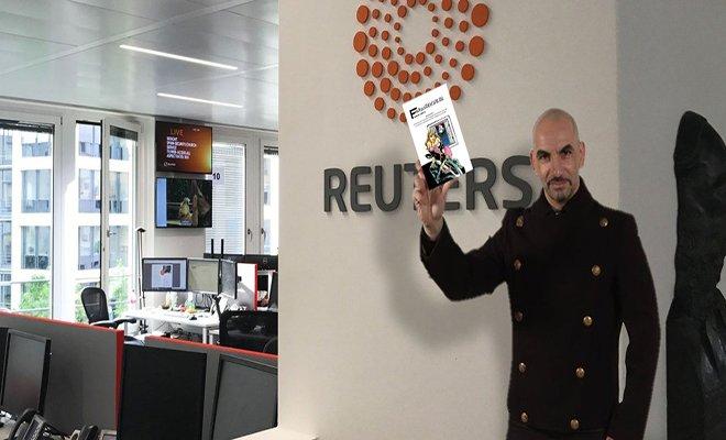 Ünlü yazar ilk röportajını Reuters'a verecek