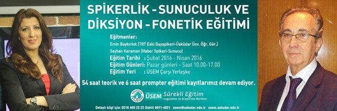 """Üsküdar Üniversitesi'nde """"güzel konuşma"""" eğitimi"""