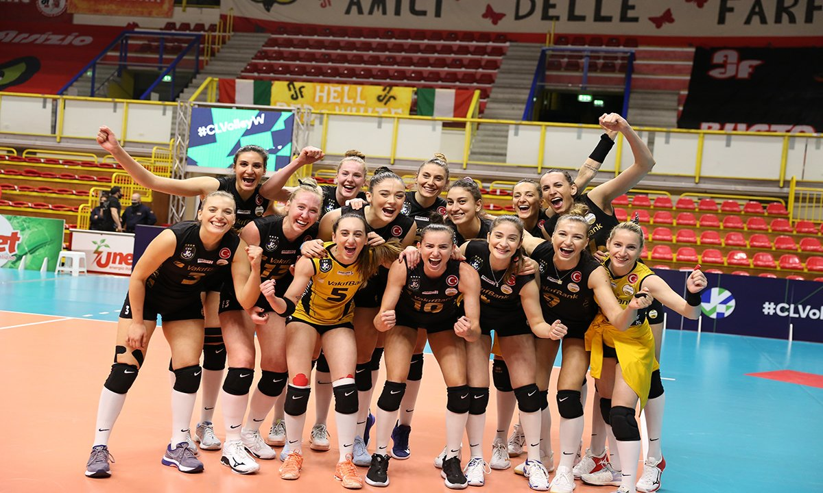VakıfBank, Devler Ligi'nde 9'uncu kez finalde