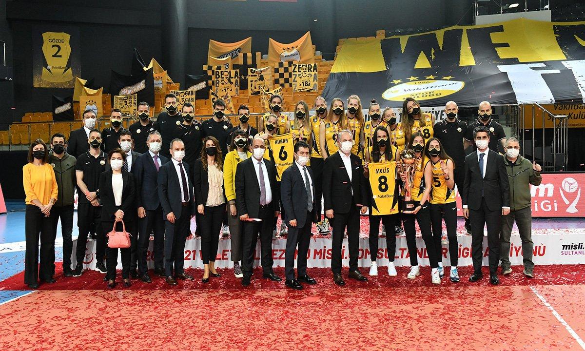 video#VakıfBank, şampiyonluk kupasını aldı#