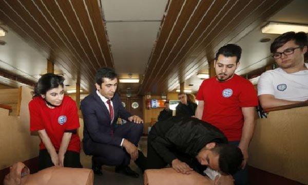 Vapur yolcularına ilk yardım eğitimi verilecek