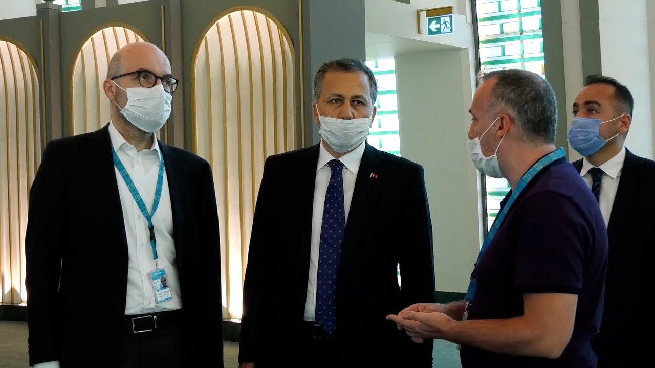 video Ali Yerlikaya İstanbul Havalimanı'nı ziyaret etti