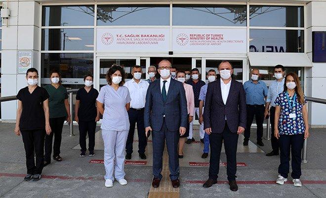 video Antalya Havalimanı'nda test merkezi hizmete girdi