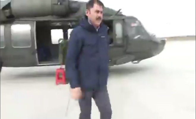 video Bakan Kurum,Malatya'daki hasar tespit çalışmaları