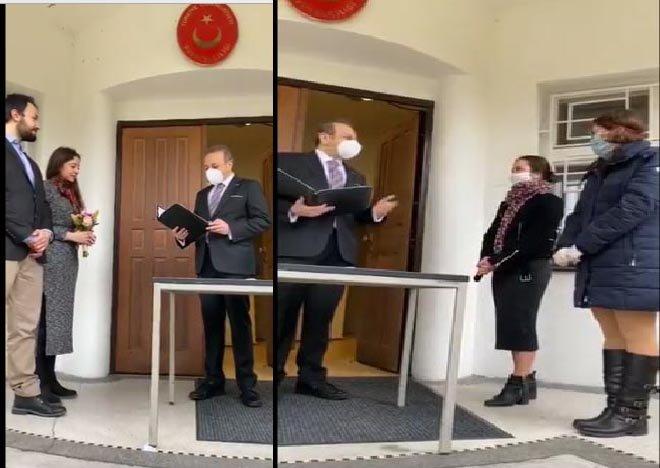 video Egemen Bağış Tuğçe ve Murat çiftinin nikahını kıydı