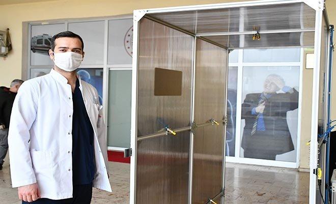 video Kamu binalarına dezenfektan tünelleri kuruldu