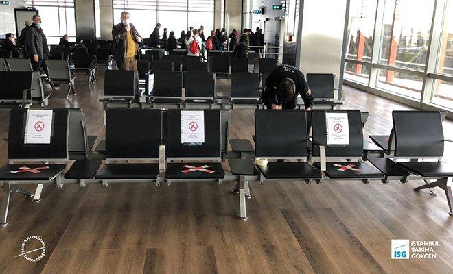 video Maskesiz havalimanı'nda uğurlama yapılmayacak
