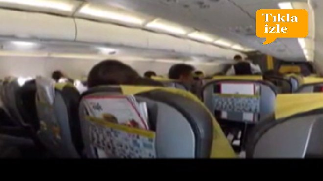 video Pegasus pilot anonsu yolcuları şaşırttı