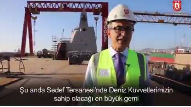 "video ""TCG Anadolu 2020 sonunda hizmete girecek"""