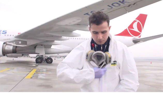 video THY Uçakları Bilimsel Yöntemlerle Dezenfekte Ediliyor