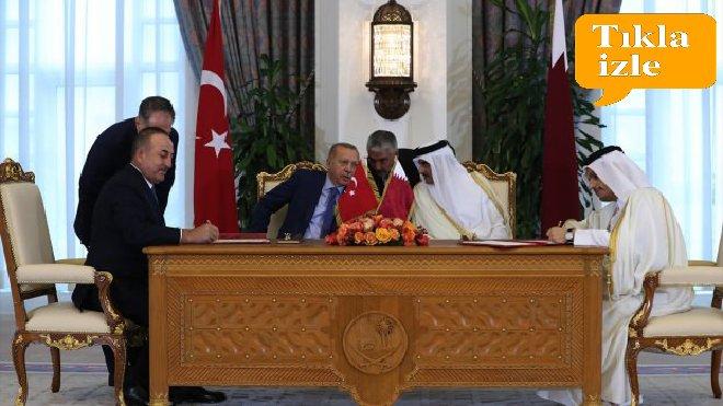 video Türkiye ile Katar arasında 7 dev anlaşma!