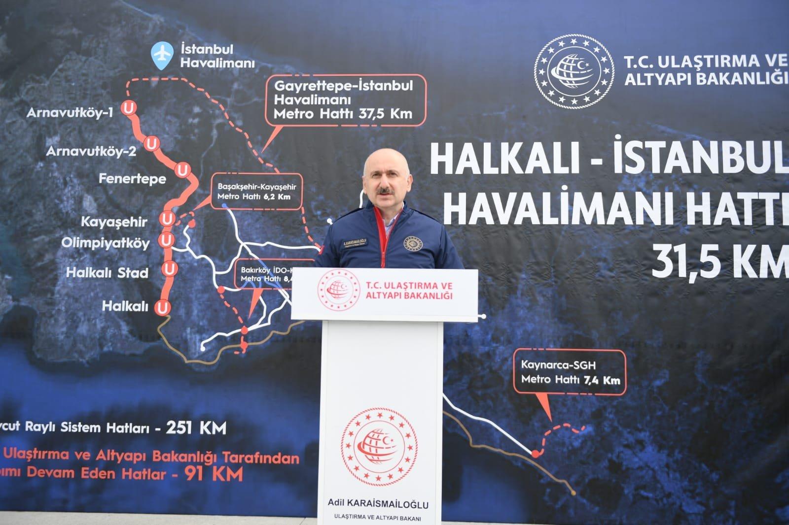 (video)İstanbul Havalimanı metrosu için geri sayım başladı!