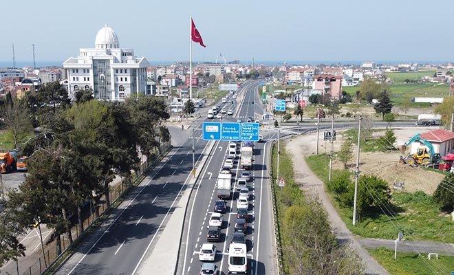 video#İstanbul-Tekirdağ yolunda araç kuyruğu