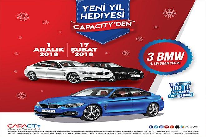 Yeni Yılda Otomobiliniz Capacity'den Hediye!