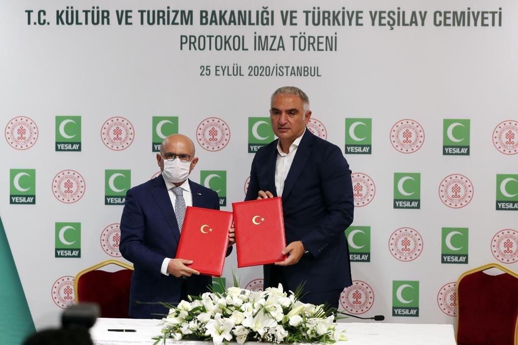 Yeşilay ve T.C. Kültür ve Turizm Bakanlığı'ndan iş birliği
