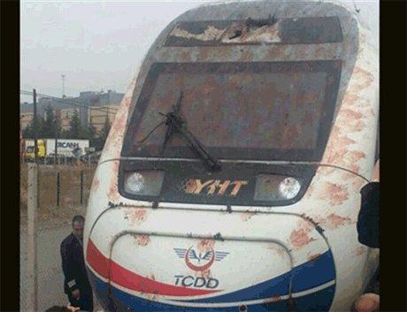 Yüksek Hızlı Tren kuş sürüsüne çarptı